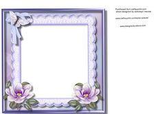 Incert With Lilac magnolias  on Craftsuprint - Add To Basket!