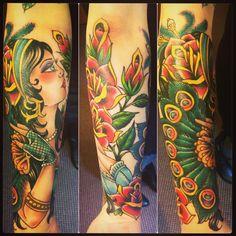 Gypsy tattoo by Jeanie Newby
