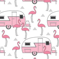 Image result for happy birthday camper with flamingos