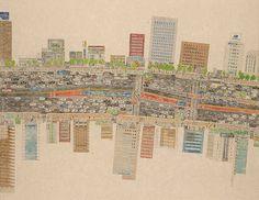 정희우, [시간을 담은 지도_논현(Maps Encapsulating Time)], 2011년