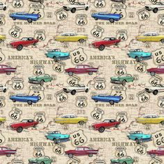 Jean Plout tarafından Route 66 Muscle Car Harita-jp3961-b Boyama