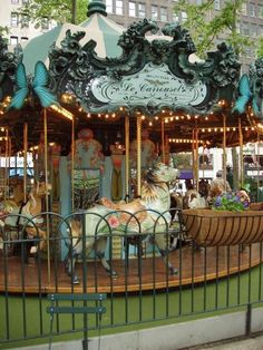 Bryant Park's gorgeous carousel