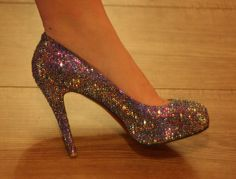 Strass shoes Louboutinlike pumps by KissMyStrass on Etsy, €200.00