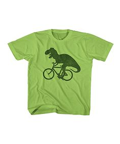 Another great find on #zulily! Key Lime Biking T-Rex Tee - Toddler & Boys by American Classics #zulilyfinds