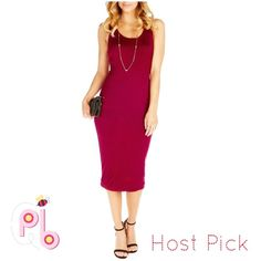 ❣JUST IN❣|Host PickNWOT Midi Tank Dress NWOT Burgundy Midi Tank Dress. Very Soft Material, and very comfortable. Host Pick 4/20/16  @sauvignon  Dresses Midi