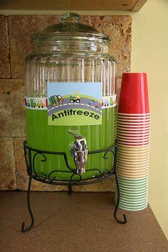 Antifreeze drink for transportation party