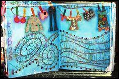 Creative Art Journaling - by Allison Cromer  - I wish I was so creative!