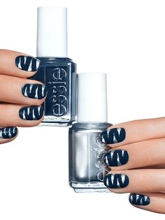 striped and ready - nail art by essie looks