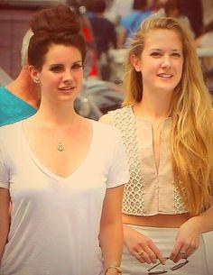 Lana Del Rey and sister Chuck Grant in Paris #LDR