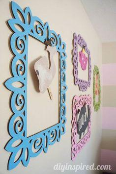 Easy Kids Artwork Display DIY Idea: