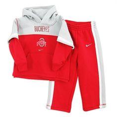 Ohio State Buckeyes Nike Toddler Pull-Over Hooded Sweatshirt and Pants Set Ohio State University, Ohio State Buckeyes, Huge Sale, Nike Kids, Little Boys, Kendall, Hooded Sweatshirts, Hoods, Suits