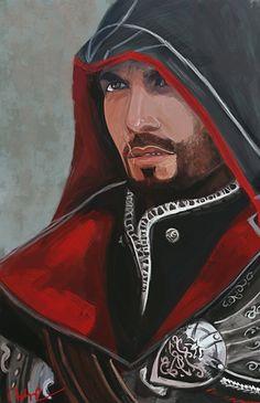 Ezio practice by Namecchan.deviantart.com #AssassinsCreed