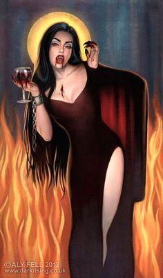 Anima Sola by Aly Fell__A lonely soul in purgatory now a vampire. Art Vampire, Vampire Love, Vampire Girls, Dark Fantasy Art, Dark Art, Arte Monster High, Vampires And Werewolves, Arte Obscura, Creatures Of The Night