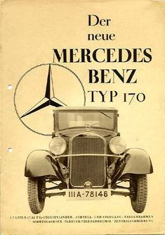 1931 Mercedes Benz 170                                                                                                                                                                                 More