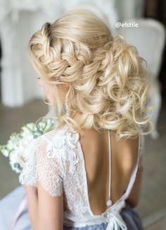 gallery elstile braided messy wedding hairstyle for long hair deer pearl flowers