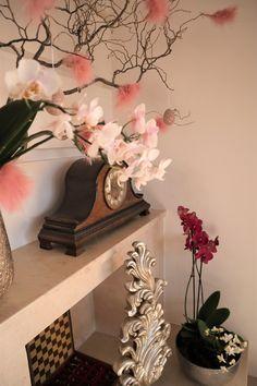Easter flower arrangement with orchids Easter Flower Arrangements, Easter Flowers, Orchids, Entryway Tables, Vase, Home Decor, Decoration Home, Room Decor, Vases