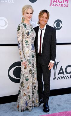 Nicole Kidman & Keith Urban from ACM Awards 2017: Red Carpet Arrivals  Red carpet royalty! This couple can't help but turn heads wherever they go.
