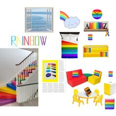 """""""Over the Rainbow - child's room"""" by khoncepts.com"""