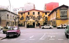 Antiguo cuartel de la Guardia Civil en la Calle Murrieta de Logroño. Década de 1970.