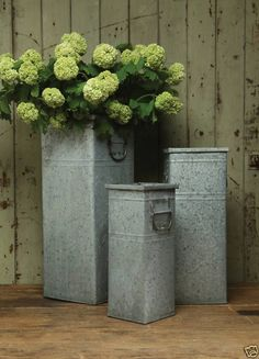 Galvanized French Flower Buckets 7 Quot 2 99 9 Quot 3 55 11