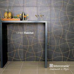 La línea Habitat es una excelente opción para espacios pequeños donde no pueden añadir todos los elementos decorativos que deseas. Con esta bella pared basta.
