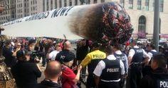 美帝支持麻藥合法化組織 派發4000支大麻抗議侵就職