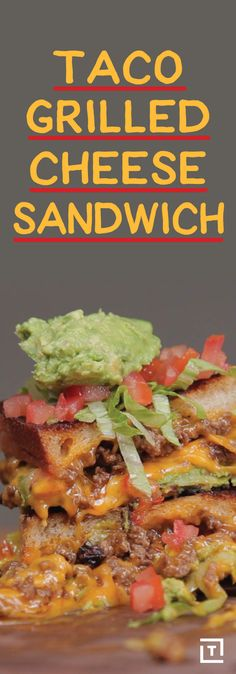 """You know how sometimes you're eating a taco with one hand and a grilled cheese with the other and you're like """"man this is hard."""" OK, maybe that hasn't happened to you, but that doesn't mean you won't be incredibly grateful to have this taste bud-busting recipe for a taco grilled cheese sandwich in your life."""