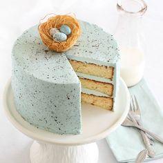 SnapWidget | Malted milk cake, my latest for @Betty Crocker! ♡