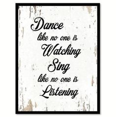 Home Decor Wall Art, Diy Home Decor, Framed Art Prints, Canvas Prints, Decor Around Tv, Let Go And Let God, Dance Like No One Is Watching, Wooden Picture Frames, Motivational Pictures