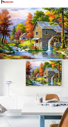 Needle Arts & Crafts Diamond Painting Cross Stitch Straightforward Full Diamond Rhinestone 5d Diy Diamond Landscape Painting Garden Cross Stitch Mosaic Pattern Home Decoration Christmas Gift