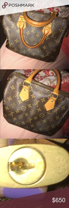 Louis Vuitton  hand bag Classic LV speedy, this bag is on two different pages because it's my sisters, just trying to help her sell it . Louis Vuitton Bags Mini Bags