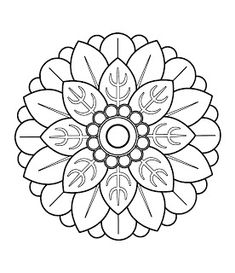 Flower Mandala Coloring Page From Abstract Mandalas Category Select 24848 Printable Crafts Of Cartoons Nature Animals Bible And Many More