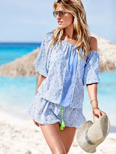 Boho-chic and ready to hit the beach, the festival...basically anything you've got going on. // Victoria's Secret Cover-Up