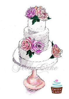 cake rough draft drawing - Google Search