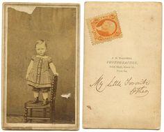Civil War Era CDV Baby Identified Orange Bankcheck Tax Stamp Illinois USA   eBay