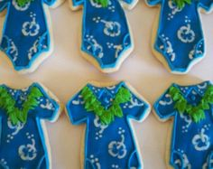 Luau Baby Cookies
