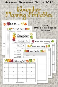 ... Planning Printables #printables #planners #thanksgiving #Fall #HSG14