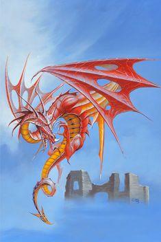 peter andrew jones - winged dragon