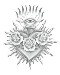 Image result for sacred heart tattoo