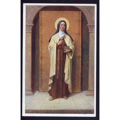 Saint Teresa, Vintage Christian postcard, Patron saint, Old picture,... ($3.50) ❤ liked on Polyvore featuring home, home decor and post card