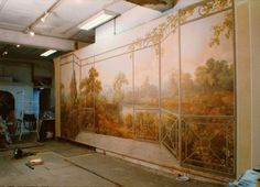 TROMPE L'OEIL autumnal. Painted on canvas. www.malleorossi.it