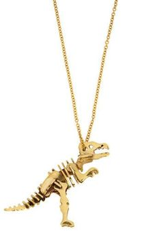 t-rex pendant jewelry necklace