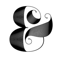 Whimsical, beautiful ampersand per   http://www.judelandry.com/index.php?/projects/ampersand/