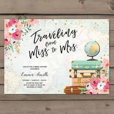 ♥ A perfect way to invite your guests to your bridal shower! You will receive READY-TO-PRINT DIGITAL files that you can print at home or in any local or online print shop! *****For matching items, please search my shop for MMF, or click this link to see all items: