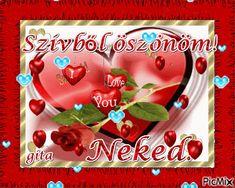 Szívből köszönöm,, Love You, Roses, Decor, Te Amo, Decoration, Je T'aime, Pink, Rose, I Love You