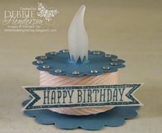 Debbie's Designs: Merry Monday Happy Birthday Blog Hop! Make Birthday Cake, Happy 60th Birthday, Birthday Cards, 3d Paper Crafts, Paper Gifts, Paper Crafting, Battery Operated Tea Lights, Battery Lights, Exploding Box Card