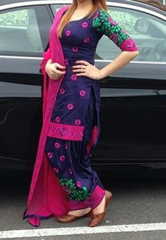 whatsapp punjabi suit - punjabi suits - suits- chooridar suit - Patiala Suit - patiala salwar suits Haute spot for Indian Outfits. We now ship world wide Pakistani Suits, Indian Suits, Indian Dresses, Indian Wear, Punjabi Fashion, Bollywood Fashion, Indian Fashion, Designer Punjabi Suits, Indian Designer Wear