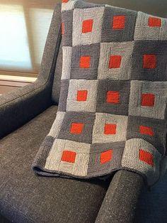 Shady Marmalade on Chair – knitting blanket patchwork Knitting Blogs, Free Knitting, Knitting Projects, Baby Knitting, Crochet Projects, Knitting Sweaters, Knitted Afghans, Knitted Blankets, Afghan Patterns