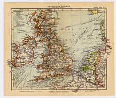 Vintage Map Of England And Wales Historic Map Archival - Historic maps england