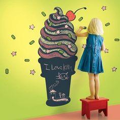 WallCandy Ice Cream Chalkboard Decal | 2Modern Furniture & Lighting